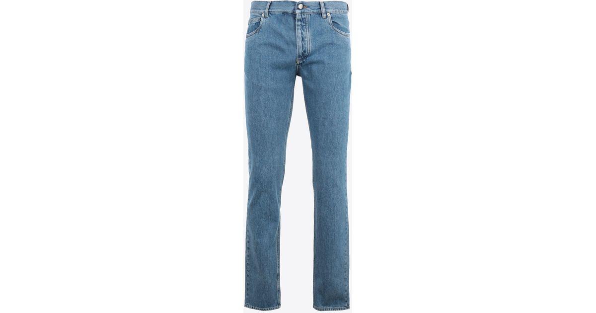toller Wert Luxus-Ästhetik Schönheit Maison Margiela Schmal geschnittene 5-Pocket-Jeans mit 80er Jahre-Waschung  in Blue für Herren