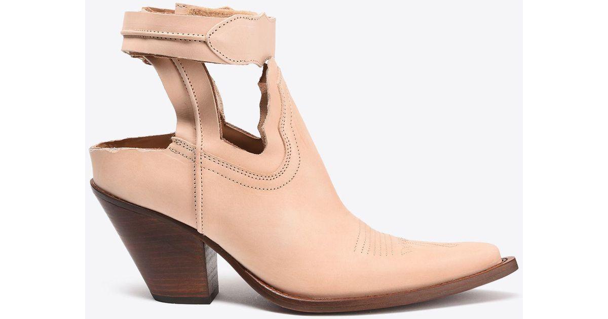 111c5224192 Maison Margiela Multicolor Cut-out Suede Cowboy Boots