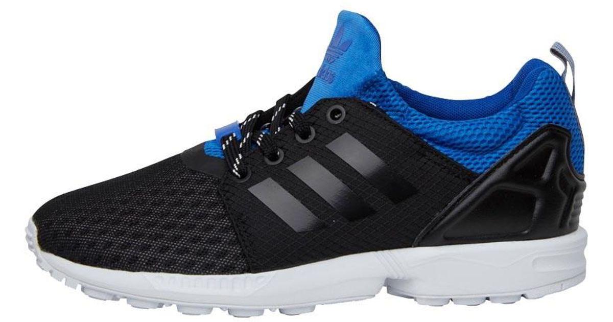 b37c0ddf0 Adidas Originals Zx Flux Nps Updated Trainers Core Black core Black royal  in Black for Men - Lyst