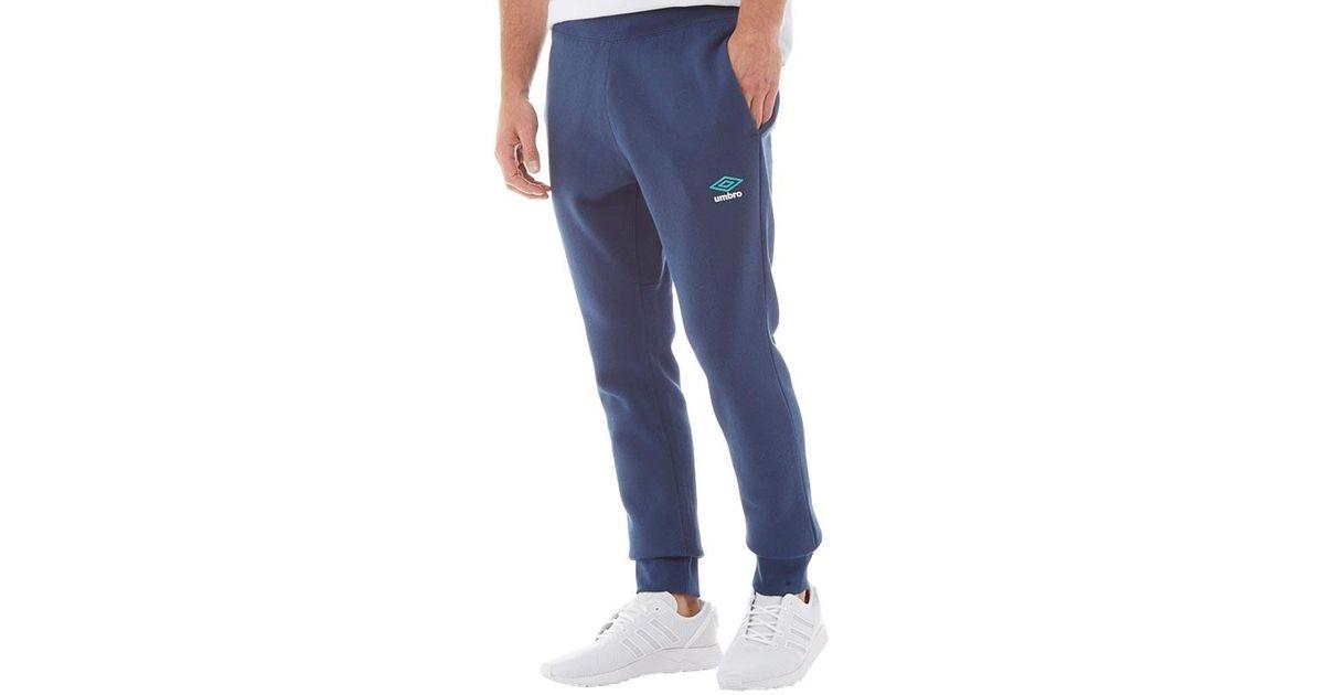 42aba2d1c Umbro Slim Cuffed Sweat Pants Navy/ceramic/white in Blue for Men - Lyst