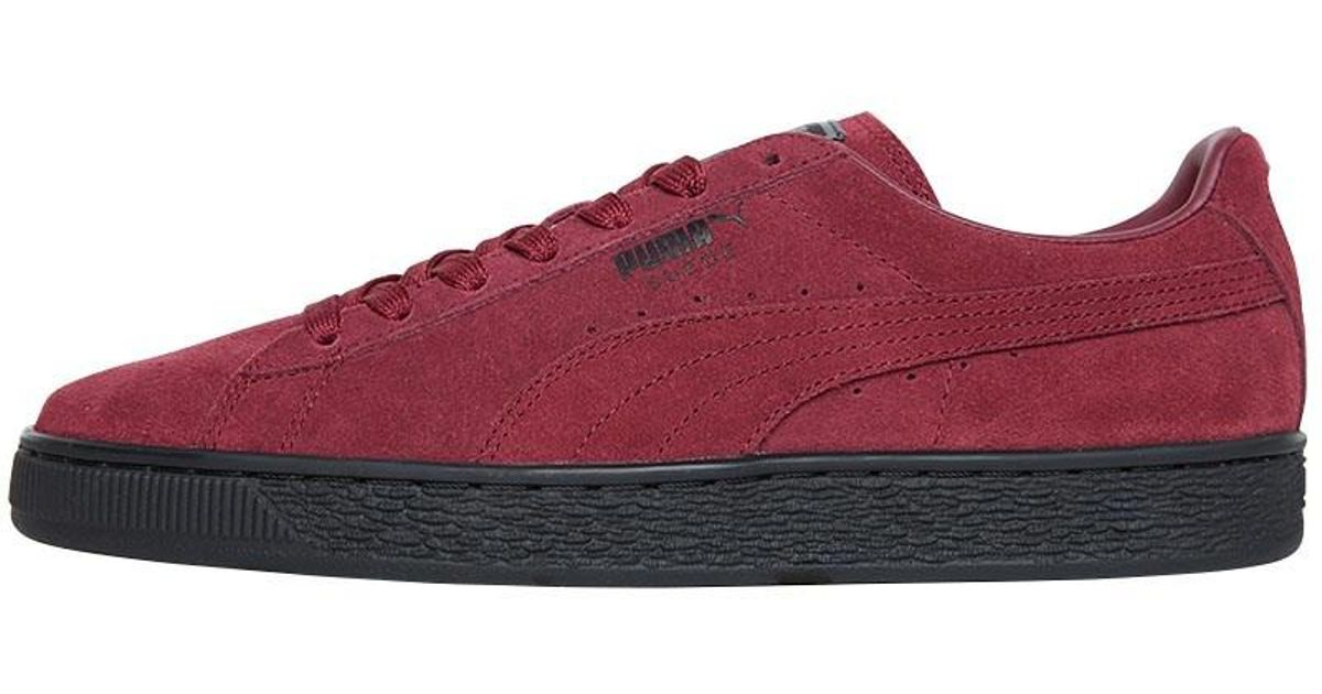 new product 3fa6a 5e0ed PUMA Red Suede Classic Trainers Cordovan/black for men