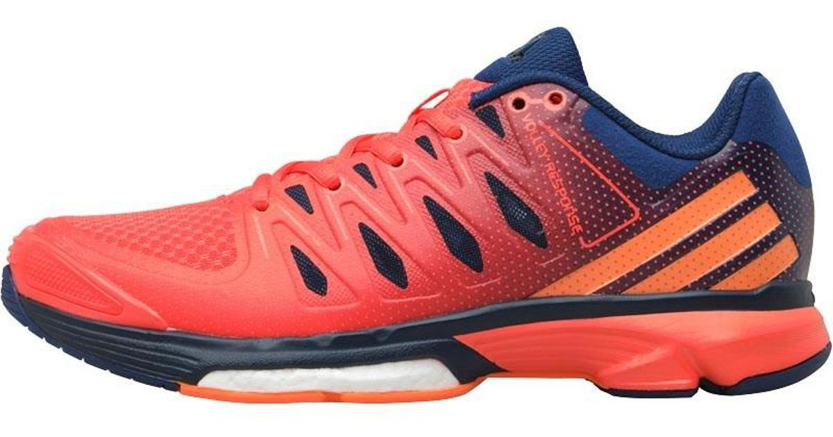 buy popular c332a 99a94 adidas Boost Volley Response 2.0 Volleyball Shoes Mystery Blueglow  Orangeeasy Coral in Blue - Lyst