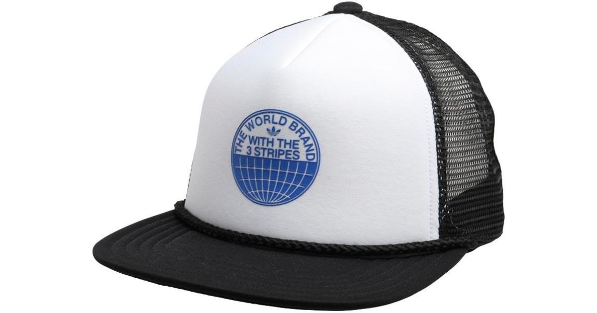 buying cheap huge sale super specials adidas Originals Heritage Trucker Cap Black/white for Men - Lyst