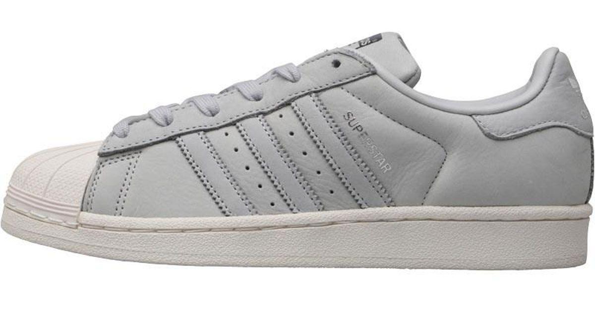 Adidas Originals Gray Superstar Trainers Light Solid Greylight Solid Greysilver Metallic