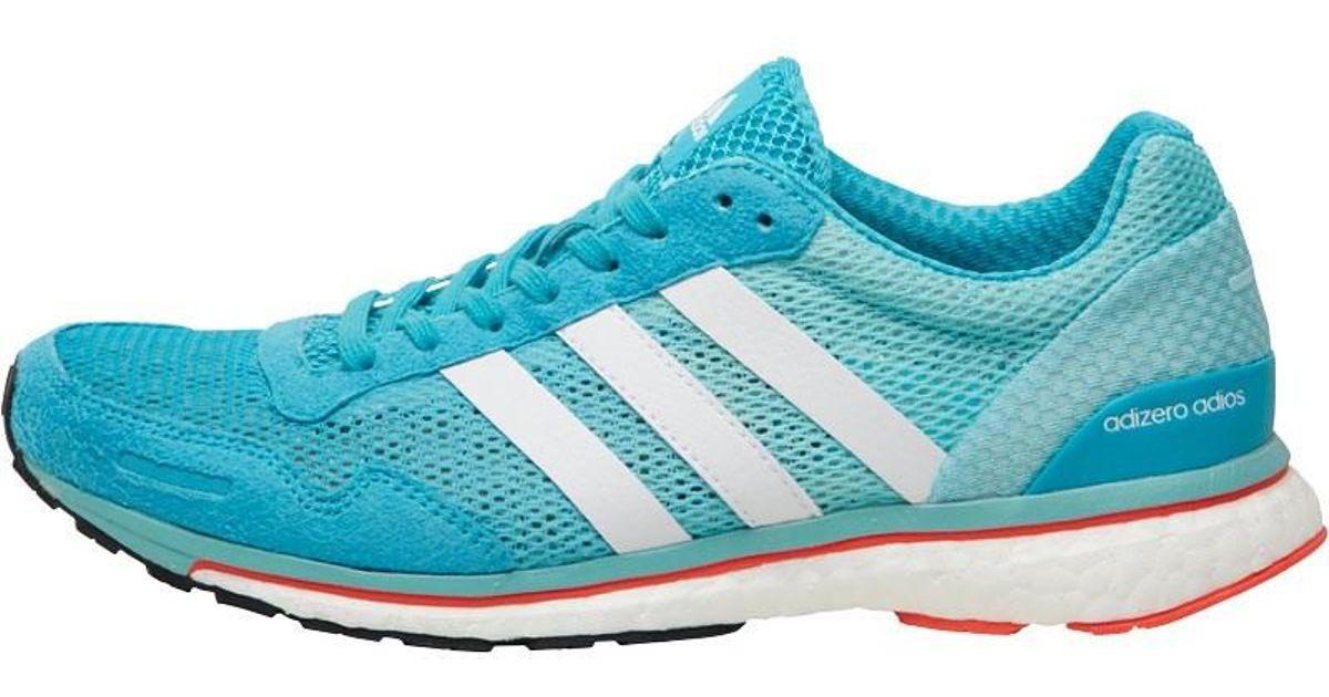 official photos da878 88865 Adidas Adizero Adios Boost 3 Lightweight Neutral Running Shoes Energy  Blue/white/easy Mint