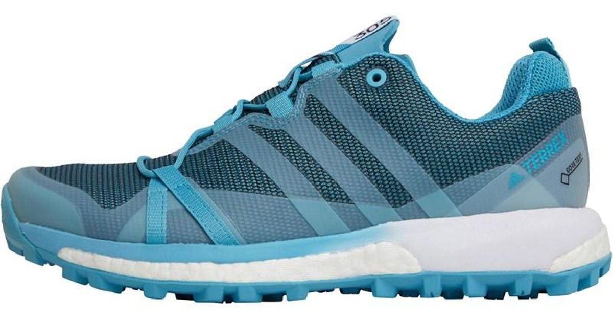 Adidas Terrex Agravic Gtx Gore tex Trail Running Shoes Vapour Blueclear Aquafootwear White