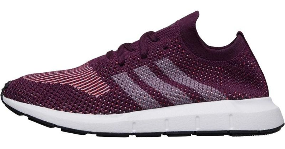 75530c5e6ef70 adidas Originals Swift Run Primeknit Trainers Red Night footwear White core  Black in Purple - Lyst