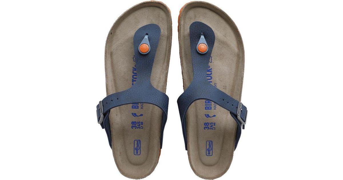 8dca70290cf Birkenstock Gizeh Birko-flor Desert Soil Sandals Blue in Blue for Men - Lyst