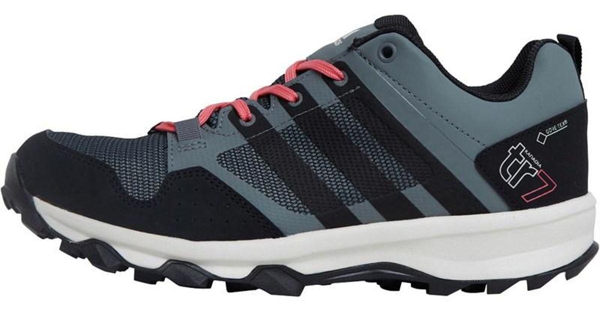 944b942428c Adidas Kanadia 7 Gtx Gore-tex Trail Running Shoes Vista Grey core Black super  Blush in Gray - Lyst