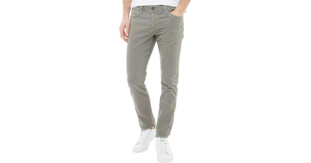 wide varieties factory outlets new high Jack & Jones Gray Glenn Fox Akm 360 Slim Fit Jeans Charcoal Grey for men