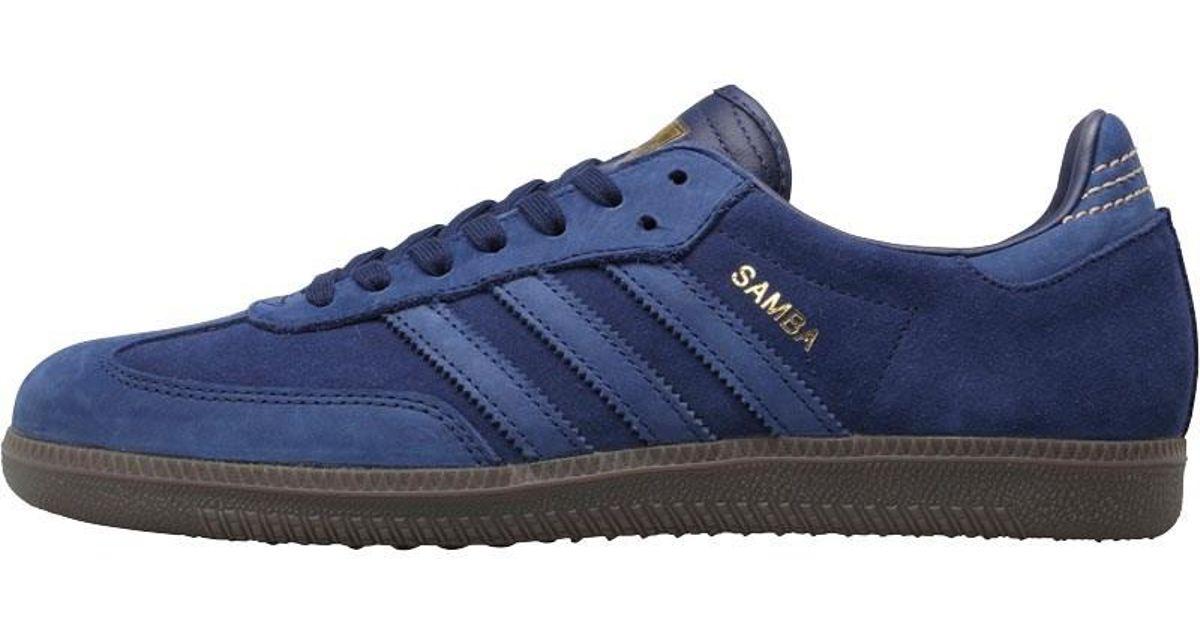 adidas blue samba fb trainers Shop
