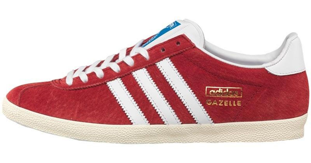 adidas Originals Gazelle Og Trainers University Red white metallic in Red  for Men - Lyst 36a1279eb865