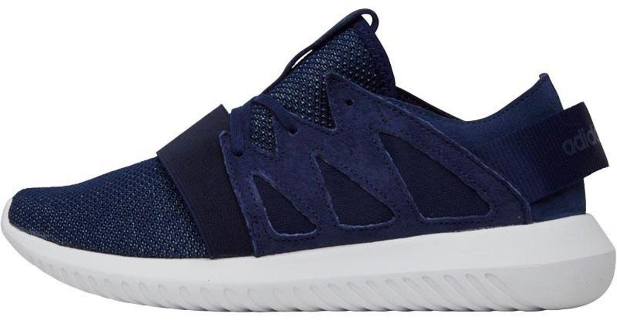 arrives e954e 8860a Adidas Originals Tubular Viral Trainers Dark Blue/frozen Green/white for men