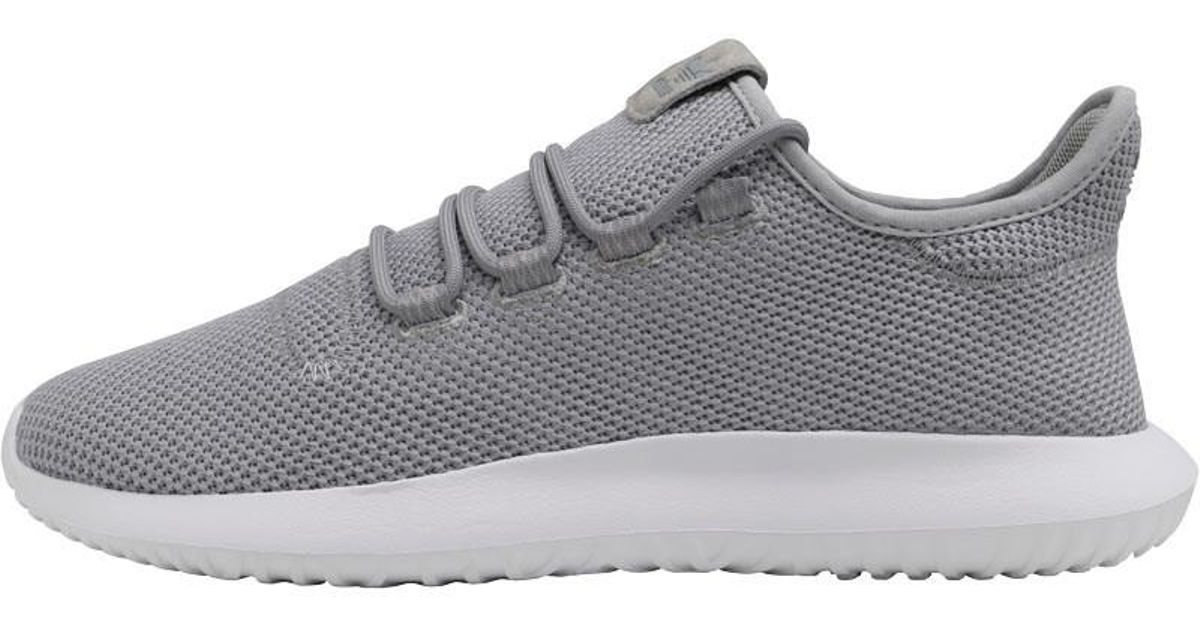 cheap for discount 0cef0 373d6 Adidas Originals Gray Tubular Shadow Trainers Medium Heather/solid  Grey/white for men