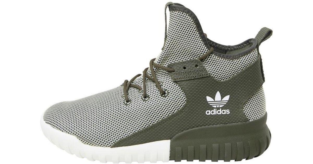 Adidas Originals Green Tubular X Glow In The Dark Trainers Multi for men