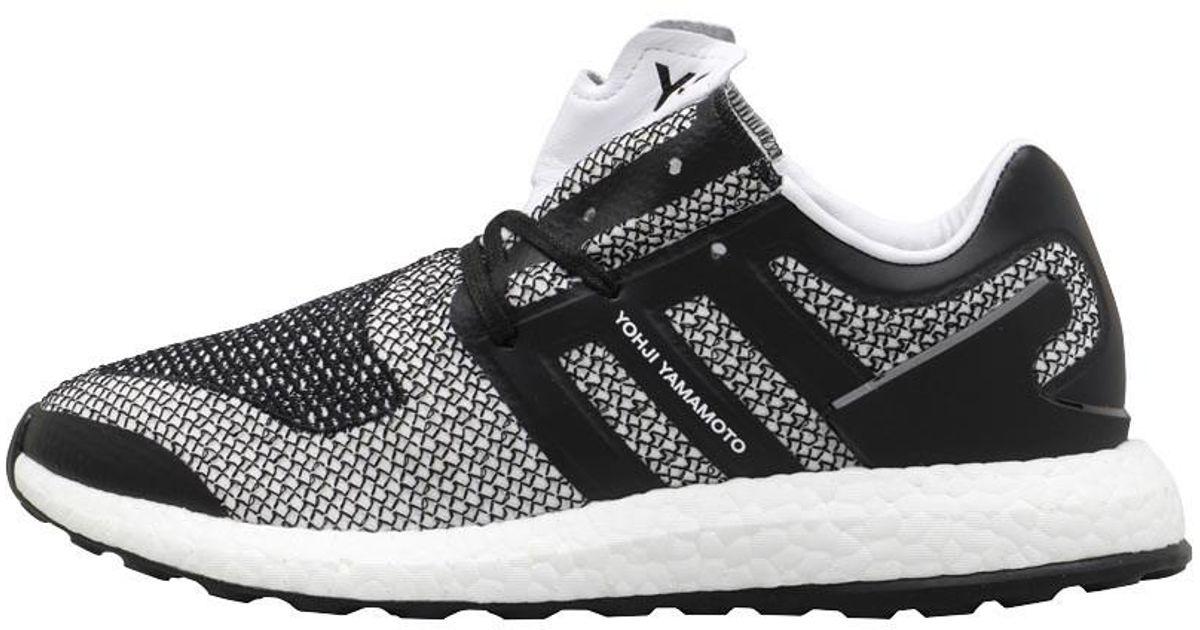 52e1620649772 Y-3 Pureboost Trainers Footwear White core Black core Black in White for  Men - Lyst