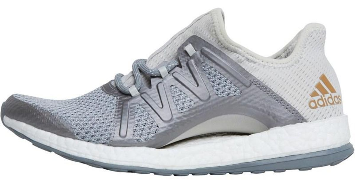 best sneakers 8fdbd fcb93 Adidas Gray Pureboost Xpose Natural Running Shoes Grey One/grey  Three/tactile Gold Metallic