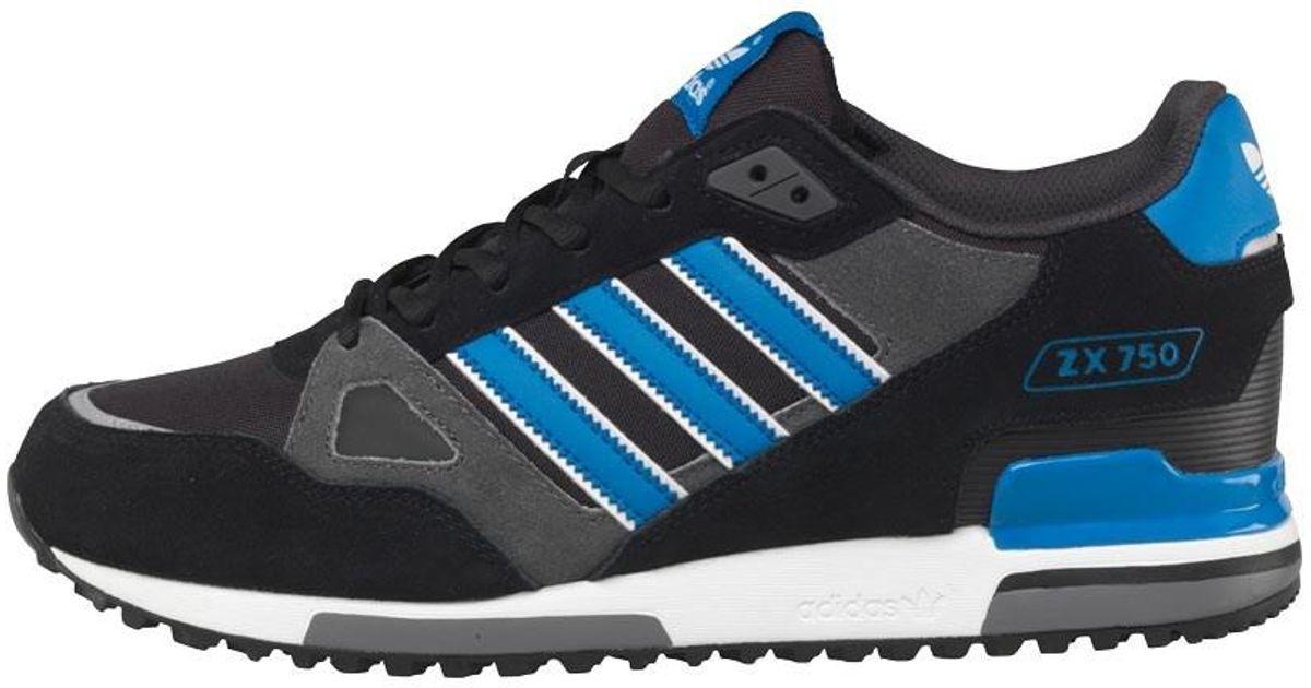 59f0516b6 adidas Originals Zx 750 Trainers Black bluebird white in Black for Men -  Lyst