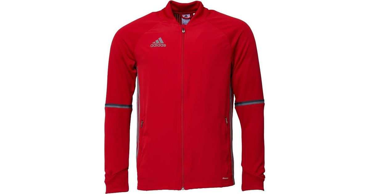 0e43fd3099f9 adidas Condivo 16 Training Jacket Power Red vista Grey in Red for Men - Lyst