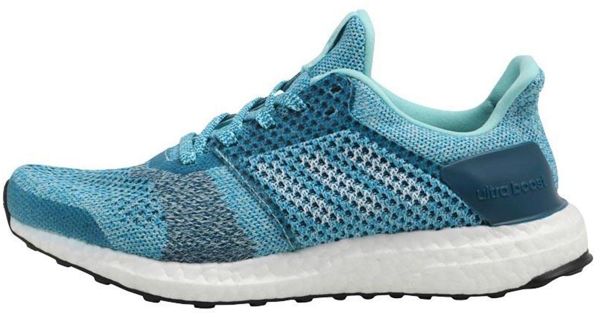 sale retailer 7acb9 44a3c Adidas Blue Ultraboost St Stability Running Shoes Energy Aqua/footwear  White/mystery Petrol