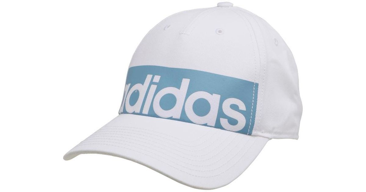 adidas 5 Panel Classic Linear Logo Cap White white tactical Blue in White  for Men - Lyst 19ff7fc29e4