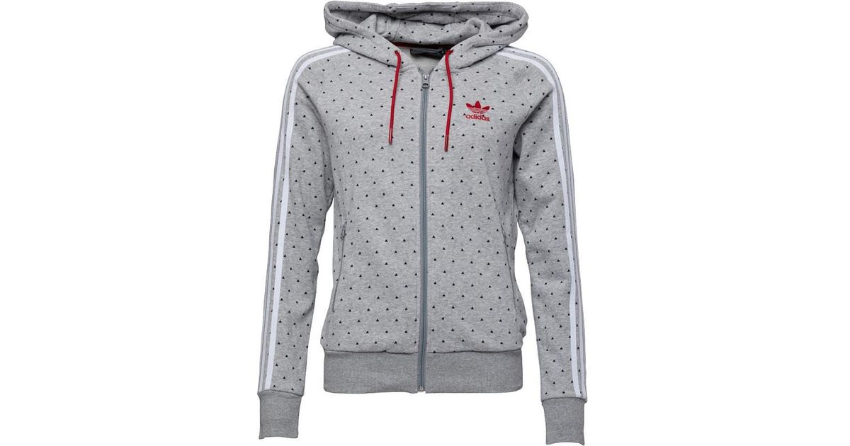 adidas Originals Pharrell Williams Hu Slim Fit Full Zip Hoody Medium Grey  Heather black in Gray - Lyst 21fc5e2560f3