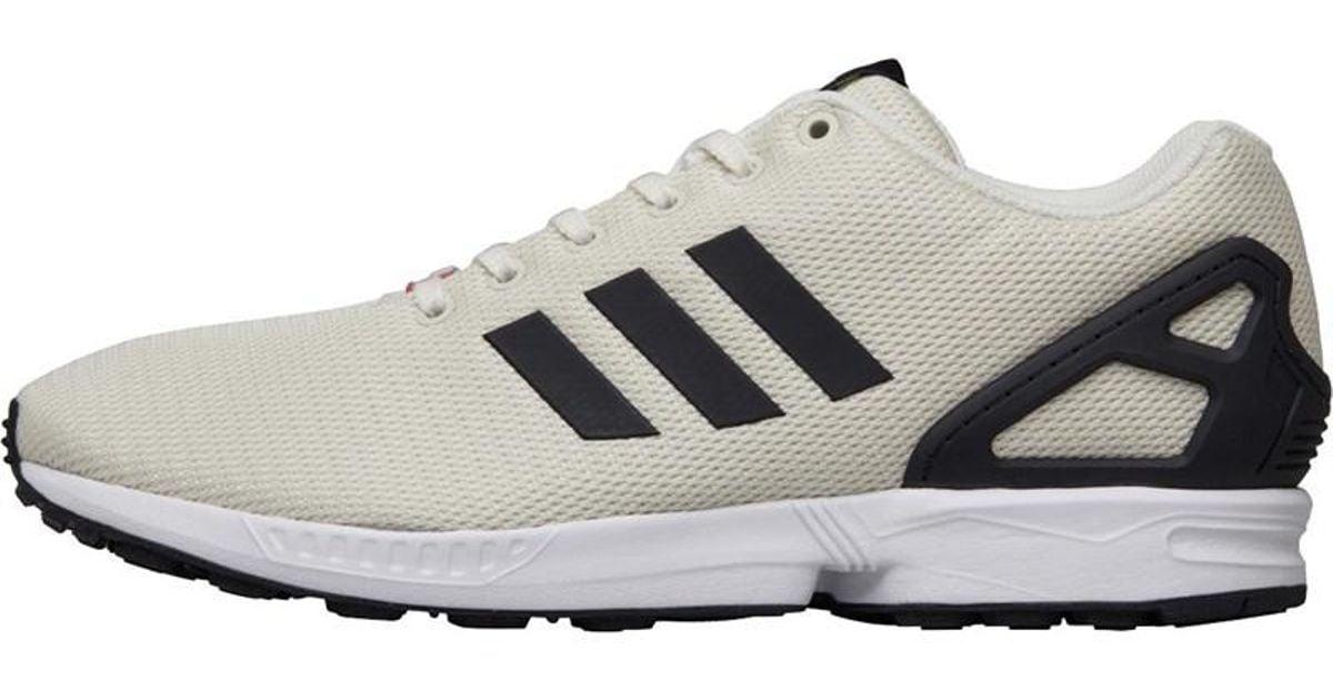 best cheap aee51 ec7e5 Adidas Originals Zx Flux Trainers Off White/core Black/footwear White for  men