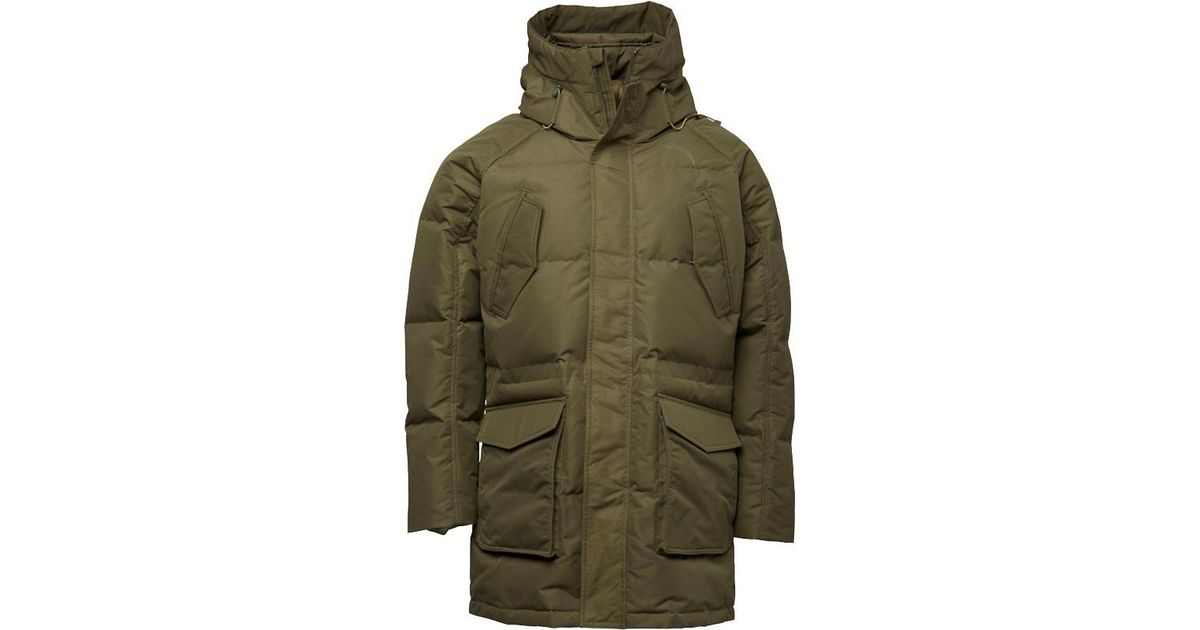 8e0e9cba0 PUMA Green Over Size Padded Hooded Down Jacket Olive Night for men