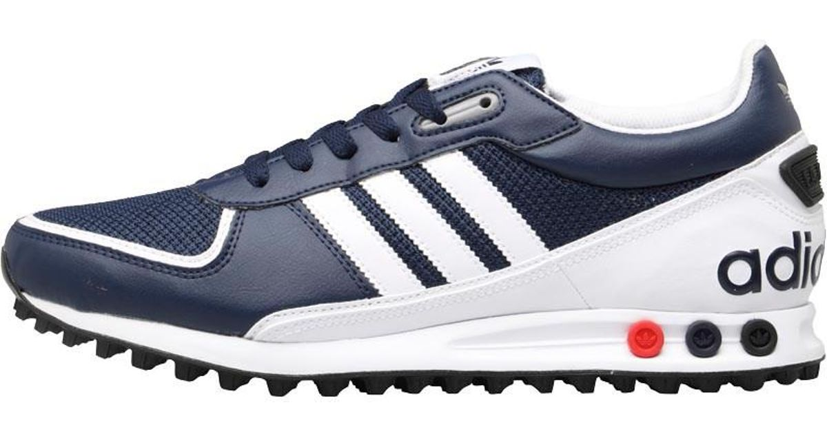 Adidas Originals Blue La Trainer Ii Trainers Collegiate Navyfootwear Whitecharcoal Grey for men
