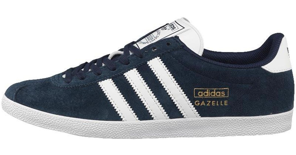 e0e3b6014 coupon code adidas gazelle boost google search 74113 8be10  france adidas  originals gazelle og trainers dark indigo white metallic gold in blue for men  lyst