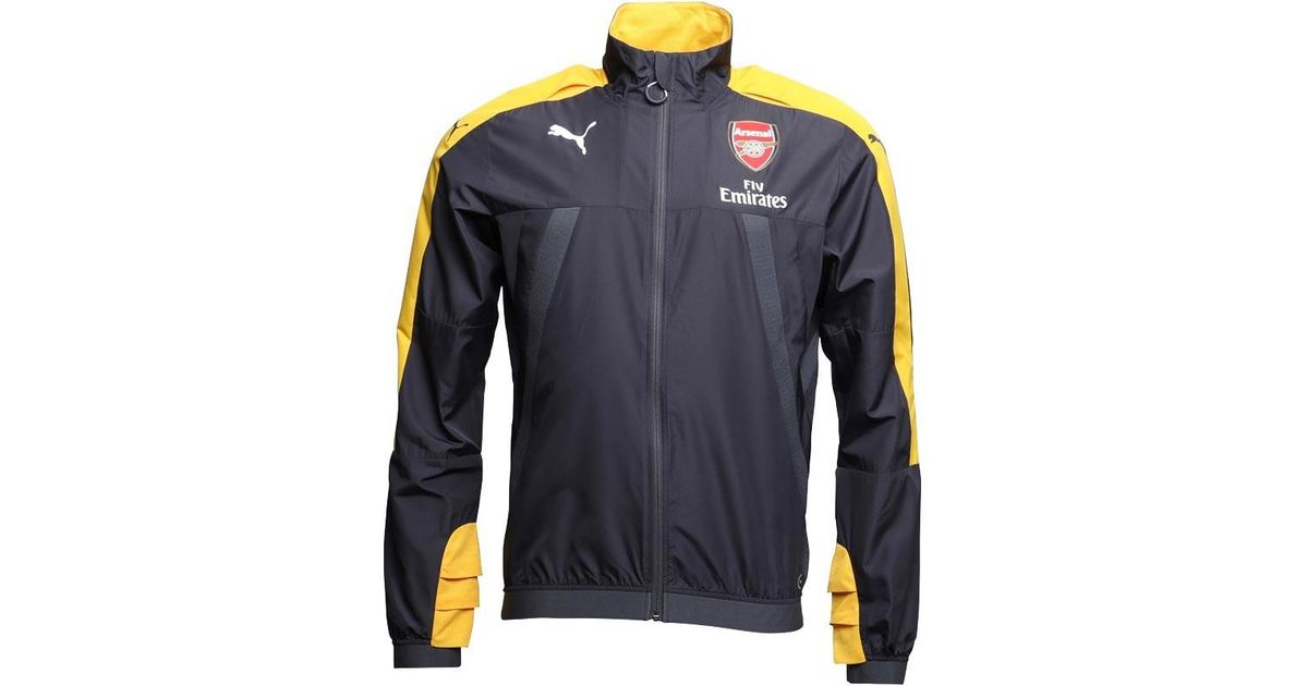 493ccccad5 PUMA Gray Afc Arsenal Vent Thermo Dwr Windcell Stadium Jacket Ebony/spectra  Yellow for men