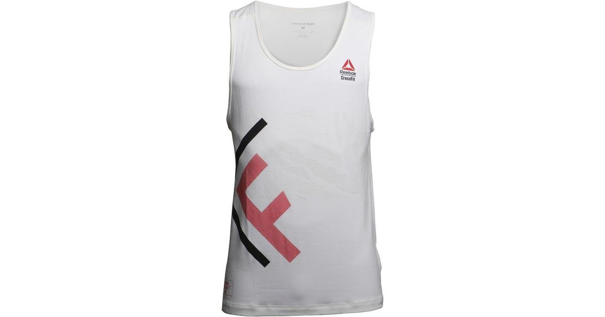6b05c83ec9cc65 Reebok Crossfit Burnout Tank White in White for Men - Lyst