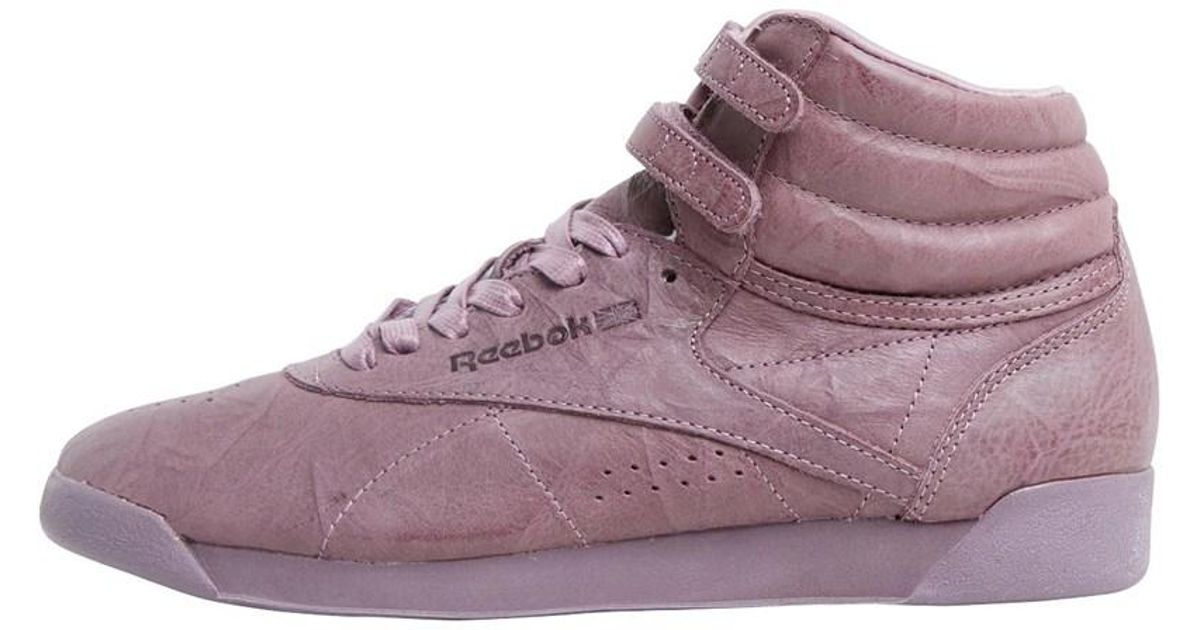 Reebok Freestyle Hi Fbt Trainers Smoky Orchid in Purple - Lyst a18c7fb58