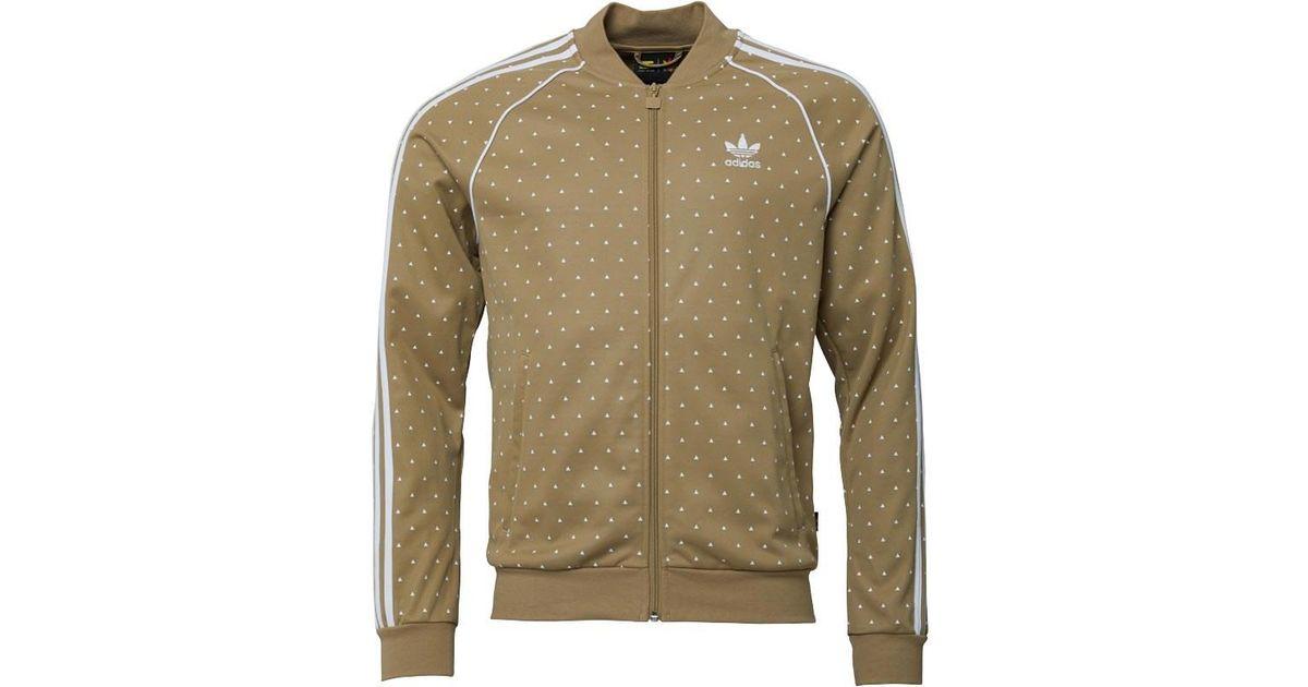 573d8f7cc5538 adidas Originals X Pharrell Williams Hu Hiking Superstar Track Jacket Hemp white  in Green for Men - Lyst