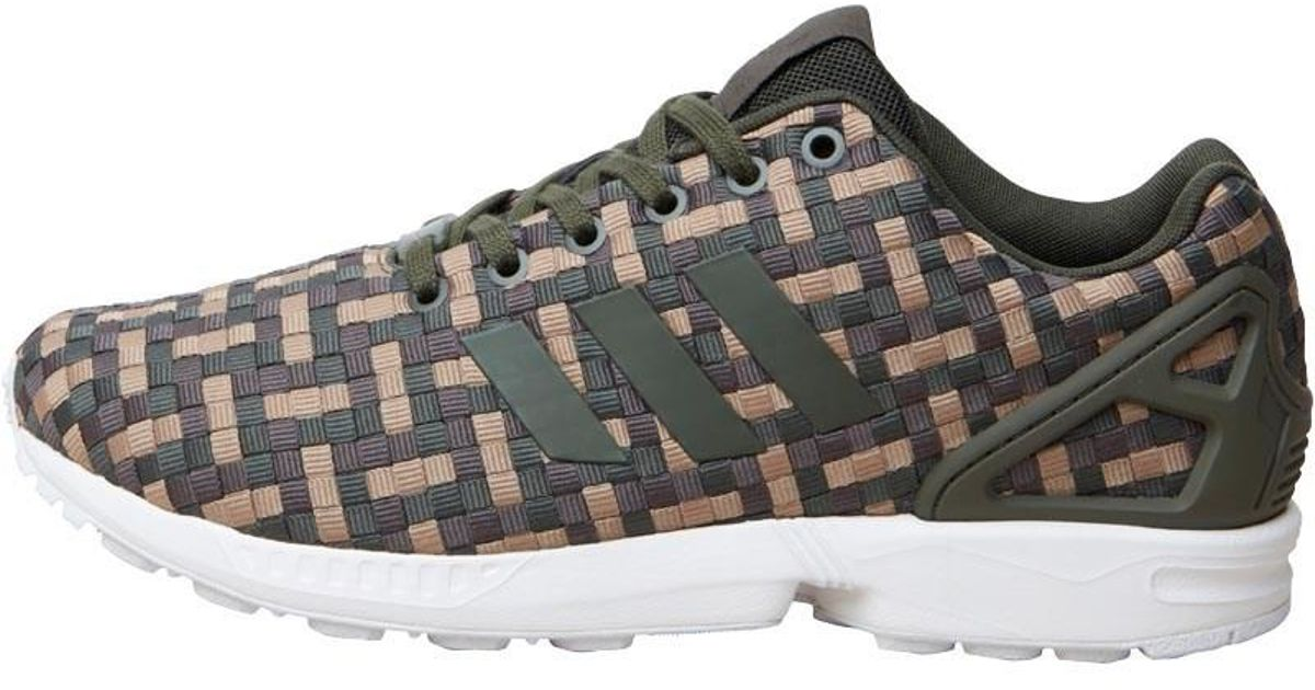 c293a5471 adidas Originals Zx Flux Trainers Night Cargo umber cardboard in Green for  Men - Lyst