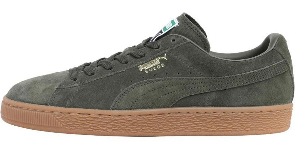 newest f8c29 844b0 PUMA Multicolor Suede Classic Trainers Forest Night/gold for men