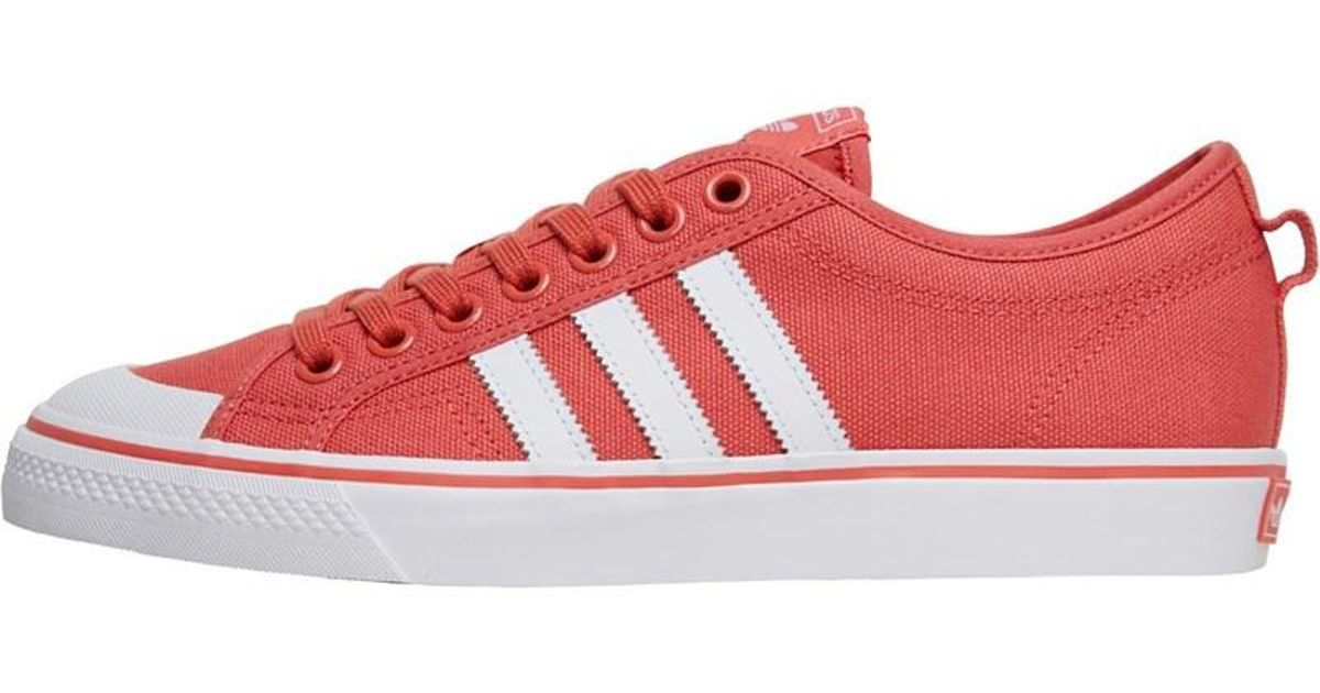 17b642c72c7 adidas Originals Nizza Trainers Trace Scarlet footwear White footwear White  in Red for Men - Lyst