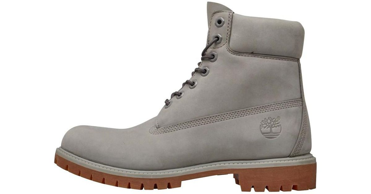 8f60c9213dc Timberland Gray 6 Inch Premium Boots Flint Grey for men