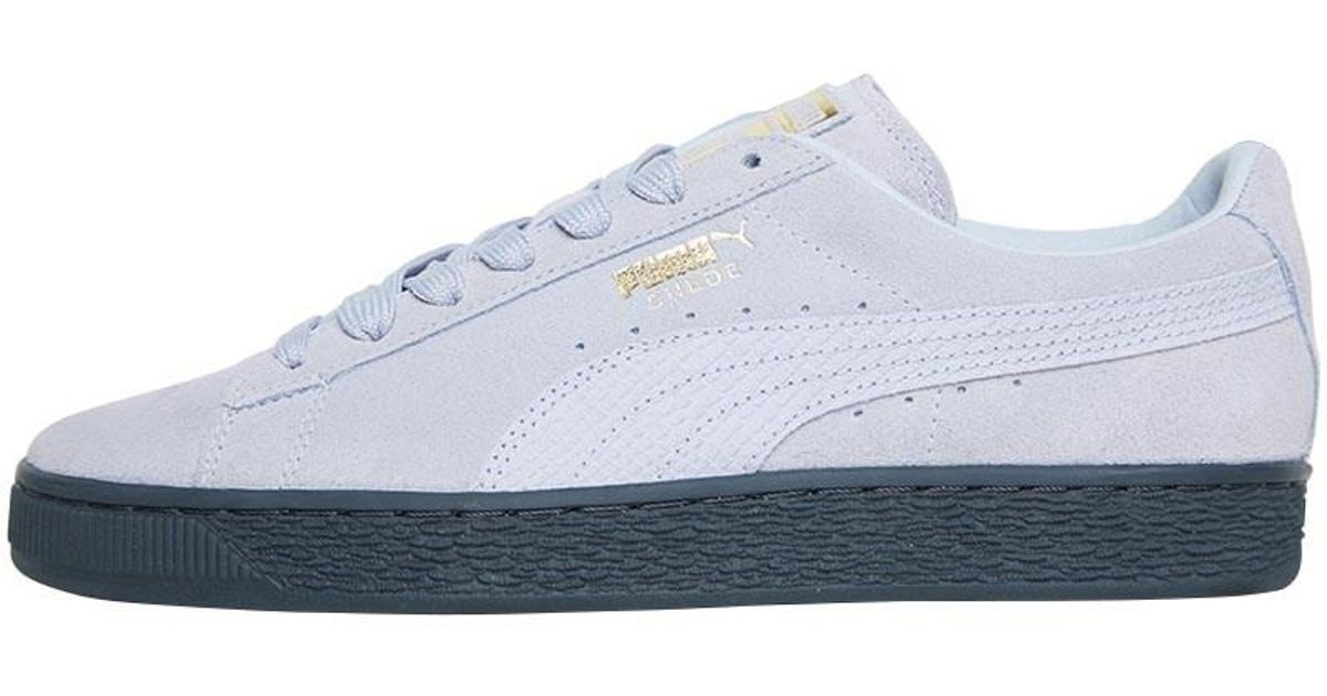 purchase cheap 0b7cf d25d6 PUMA Suede Classic Animal Trainers Iceland Blue/gold for men