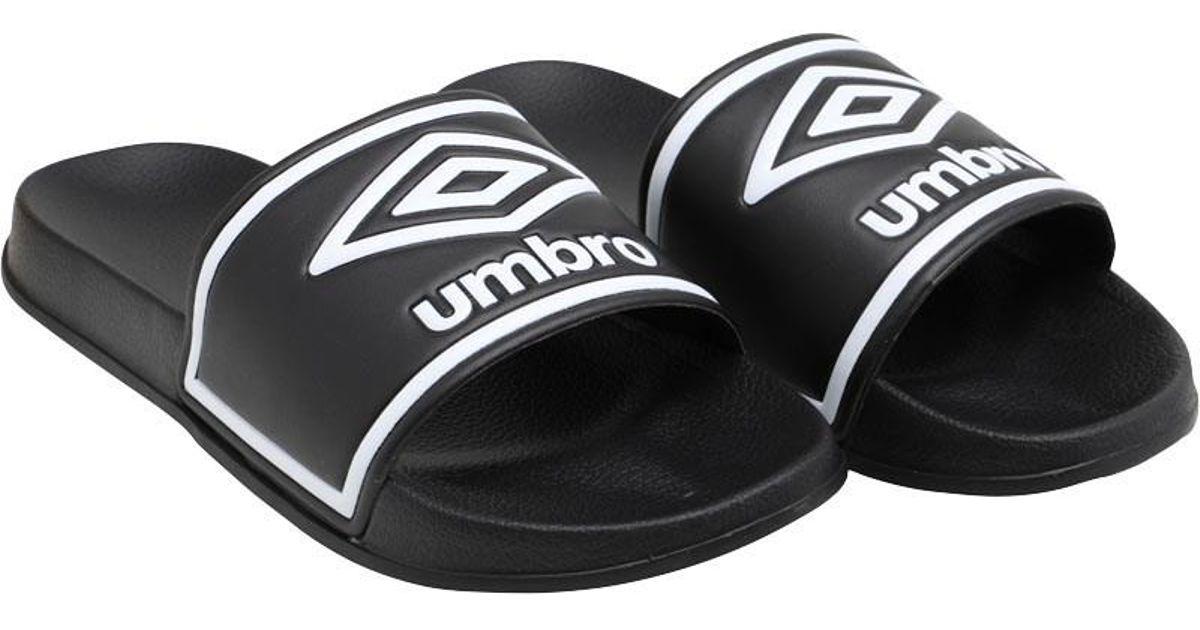 37112661a Umbro Beach Pool Sliders Black/white in Black for Men - Save 50% - Lyst