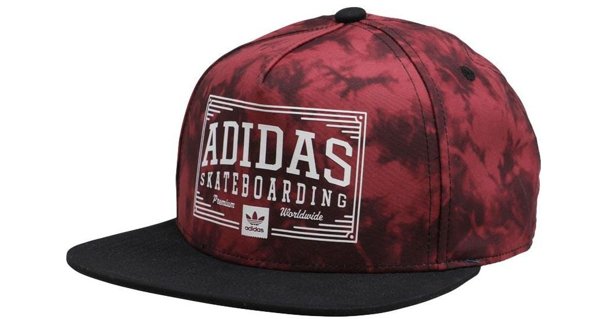 abf0e560 ... discount code for adidas originals skateboarding jockey tie dye  snapback cap mystery red in red for