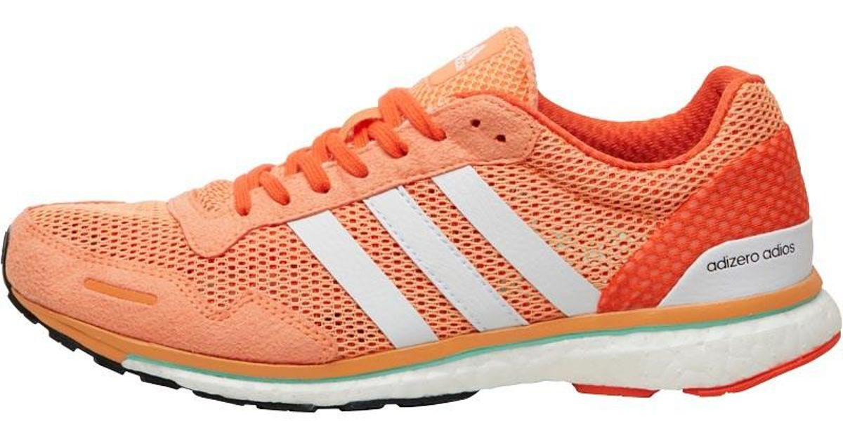 online retailer 54bf6 db50d Adidas Adizero Adios Boost 3 Lightweight Neutral Running Shoes Easy  Orange/white/energy