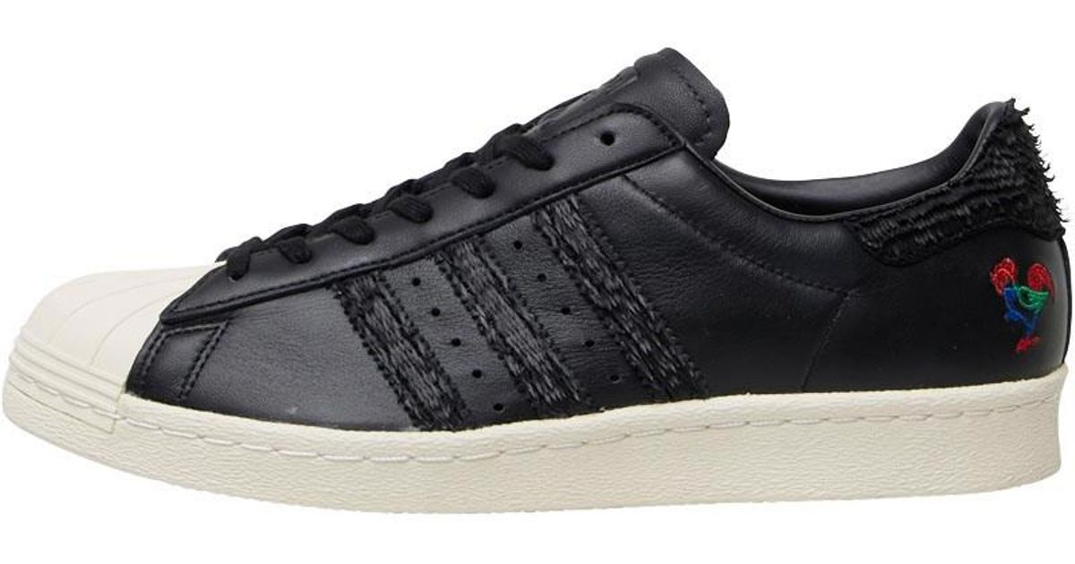 sports shoes e48f5 93818 Adidas Originals Superstar 80s Chinese New Year Trainers Core Black for men