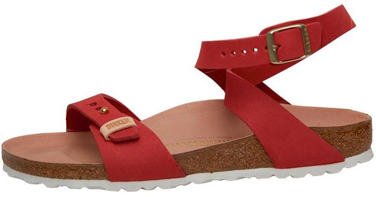 best loved b60f0 a2fce Birkenstock Red Narrow Fit Delhi Sandals Rot
