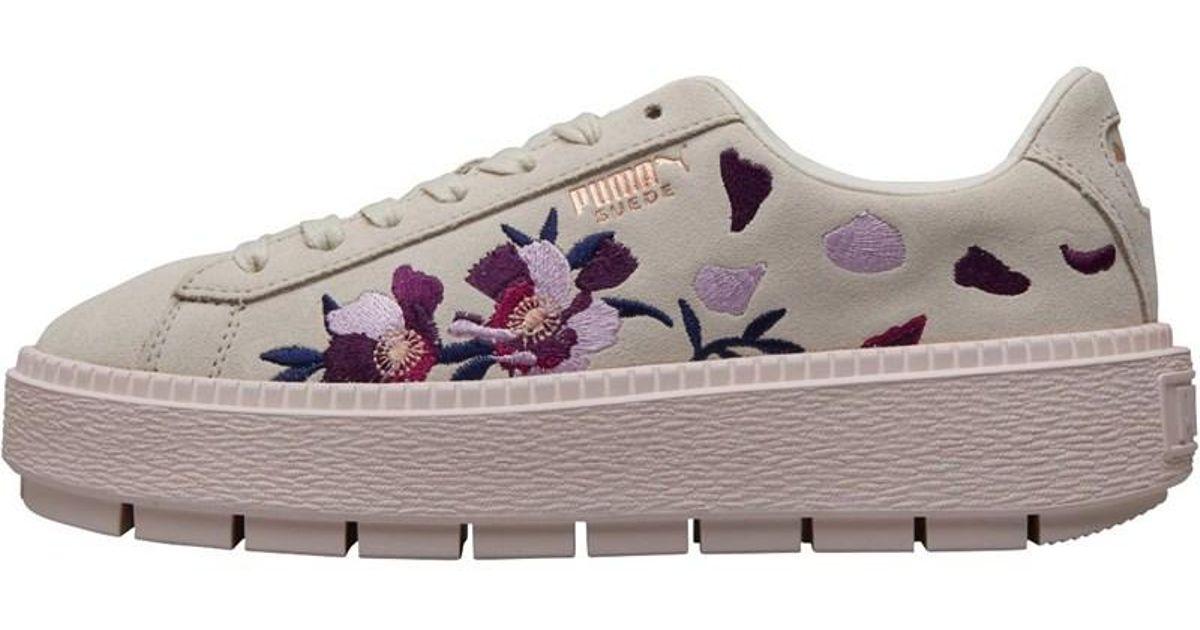 puma platform trace flowery