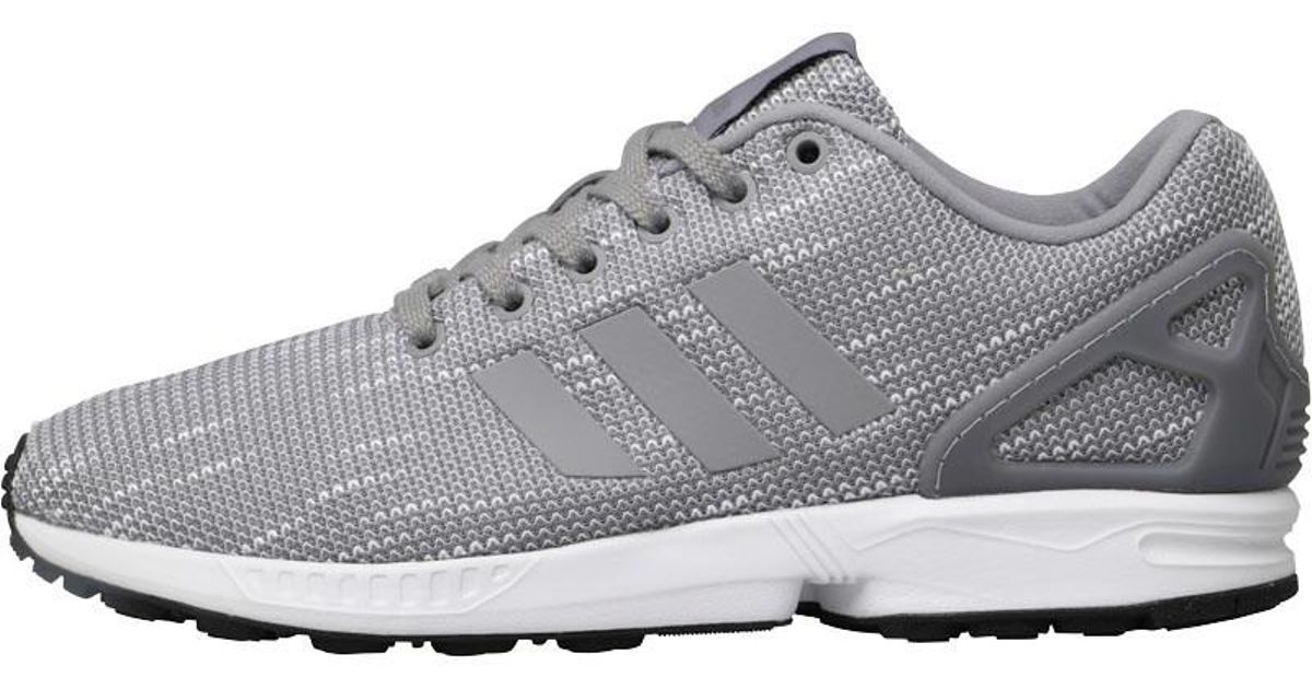 new arrival a360f a0447 Adidas Originals Gray Zx Flux Trainers Grey Three/grey Three/footwear White  for men