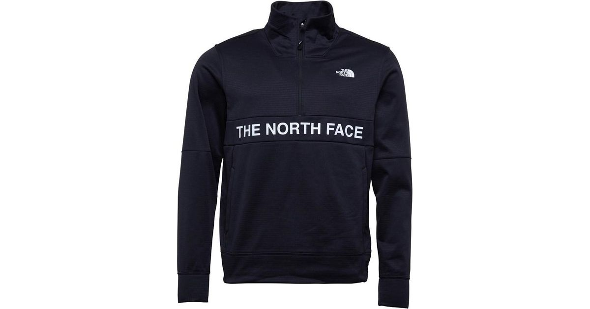4a0df489e The North Face Train N Logo 1/2 Zip Track Top Tnf Black for men
