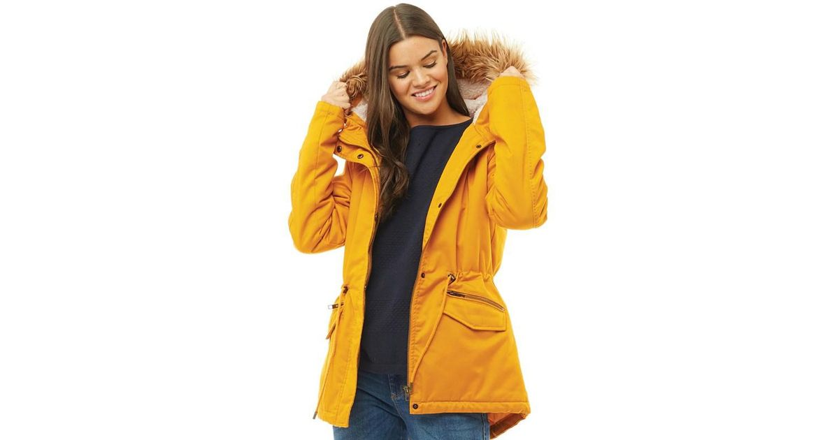 0c5a2572430 ONLY Ruby Short Parka Golden Yellow