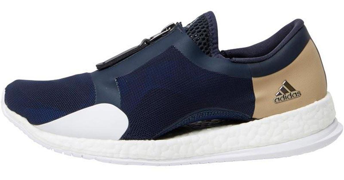 premium selection f70b0 1a7b6 adidas Pureboost X Tr Zip Trainers Collegiate Navycore Blackblue in Blue  - Lyst