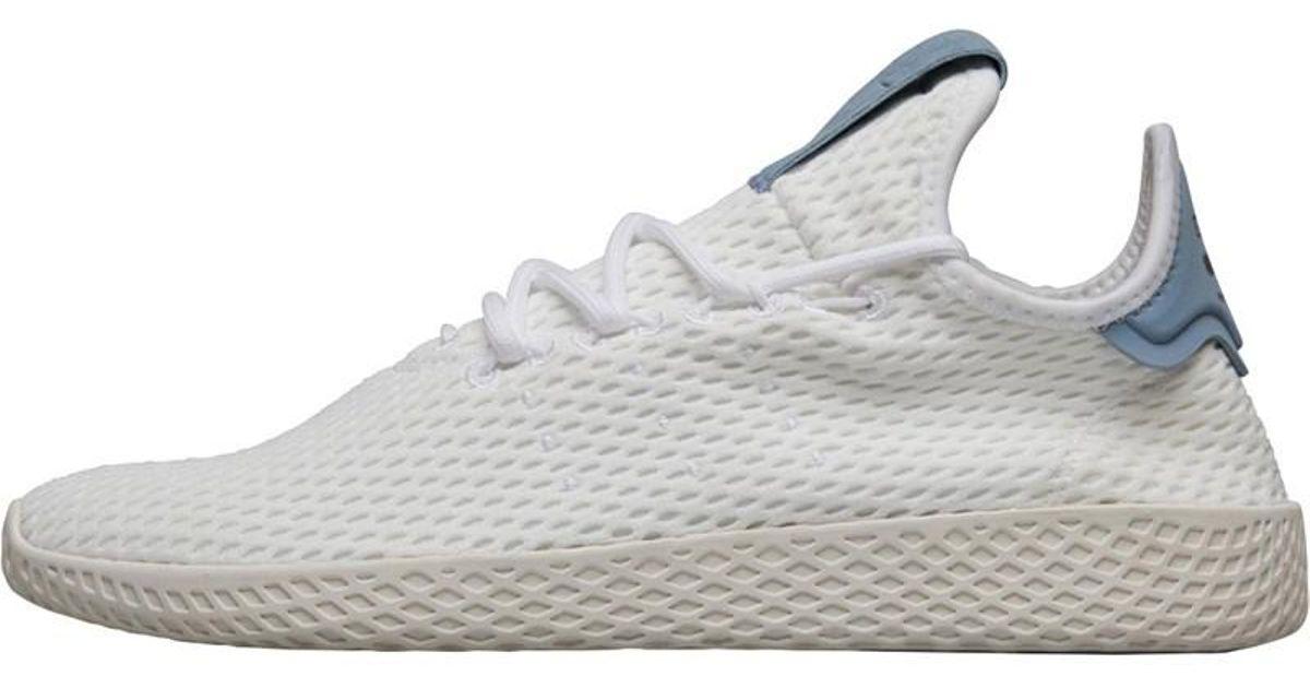 ff89484df adidas Originals X Pharrell Williams Tennis Hu Trainers Footwear White footwear  White tactile Blue in White - Lyst